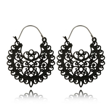 Alloy Vintage Geometric earring  (black) NHGY2232-black's discount tags