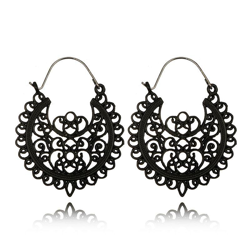 Alloy Vintage Geometric earring  black NHGY2232black