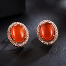 Alloy Simple Geometric earring  red NHLJ4027red