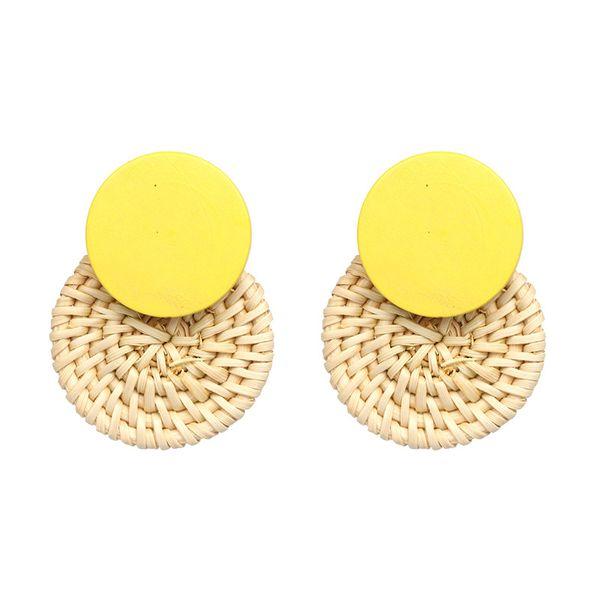 Alloy Fashion Geometric earring  (yellow) NHJJ5050-yellow