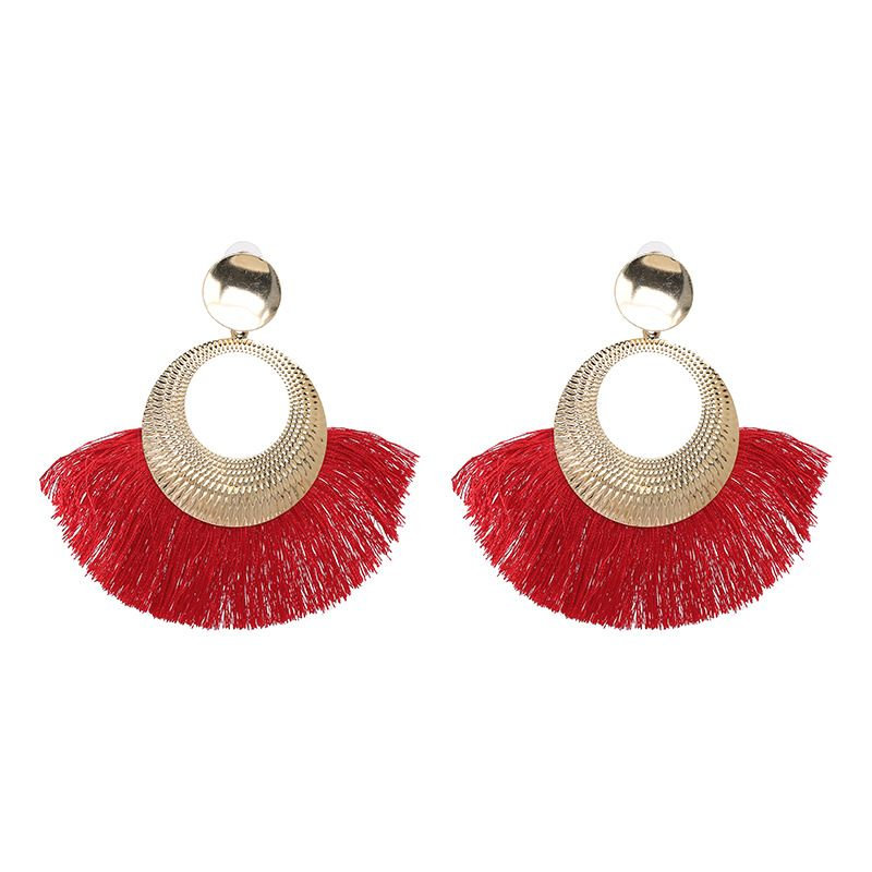 Alloy Fashion Tassel earring  red NHJJ5051red