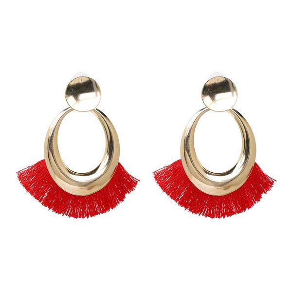 Alloy Fashion Tassel earring  (red) NHJJ5053-red