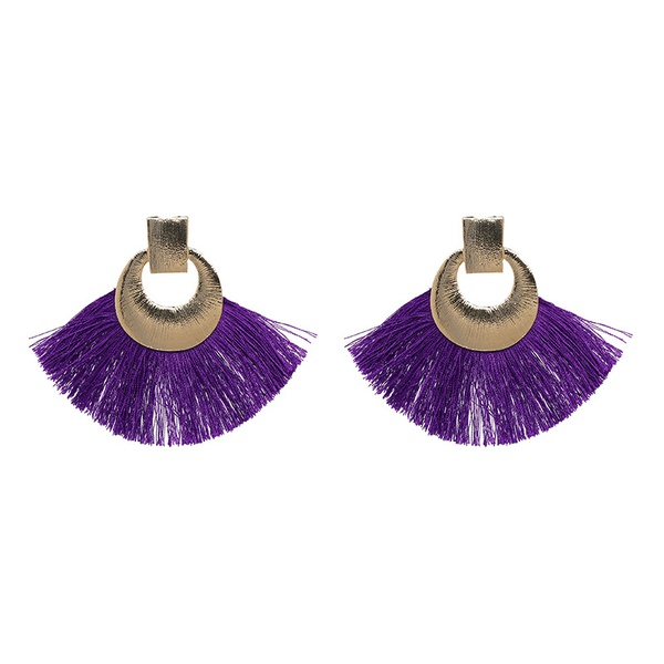 Alloy Fashion Tassel earring  (purple) NHJJ5054-purple