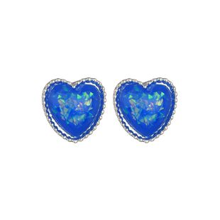 Alloy Vintage Sweetheart earring  (blue) NHBQ1657-blue's discount tags
