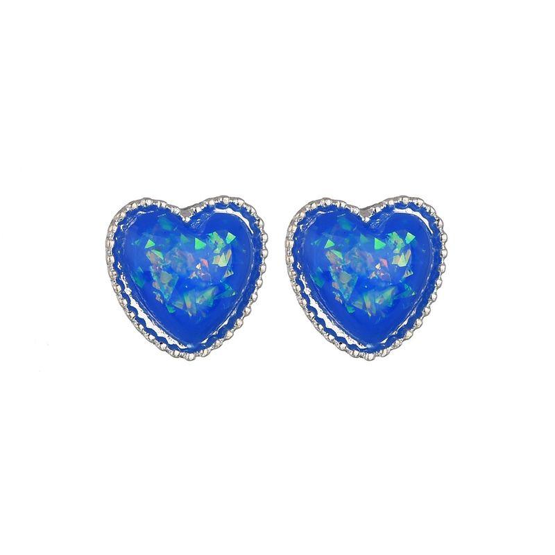 Alloy Vintage Sweetheart earring  blue NHBQ1657blue