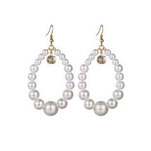 Beads Fashion Geometric earring  (white) NHBQ1662-white's discount tags