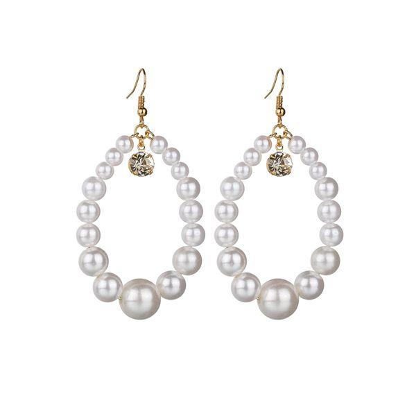 Beads Fashion Geometric earring  (white) NHBQ1662-white
