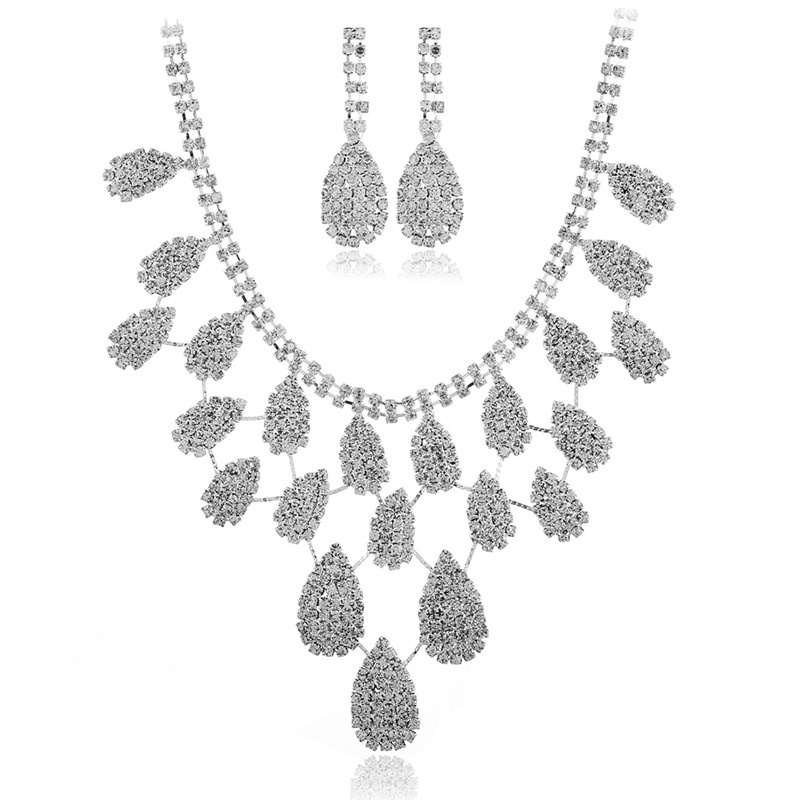 Alloy Bohemia  Bridal jewelry  (White K white) NHKQ1850-White-K-white