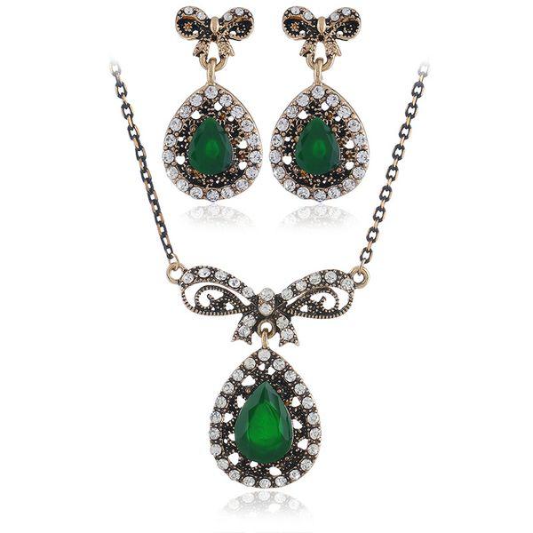 Alloy Bohemia  necklace  (Ancient KC alloy green) NHKQ1852-Ancient-KC-alloy-green