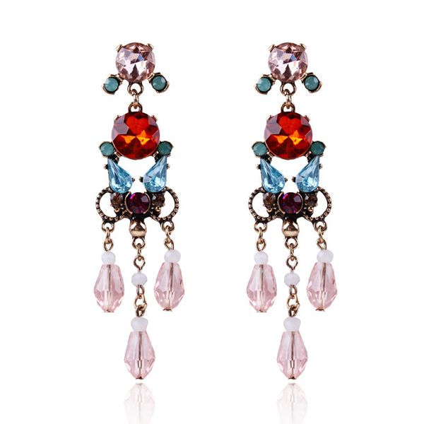 Alloy Fashion Geometric earring  (red) NHNMD4647-red