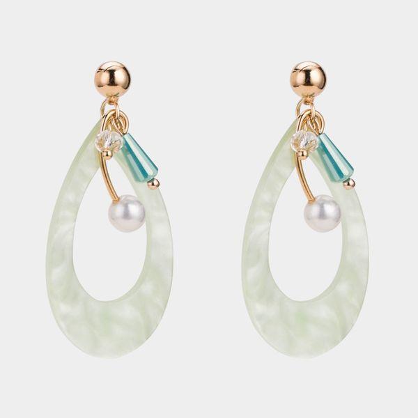 Beads Fashion Geometric earring  (green) NHWF3472-green