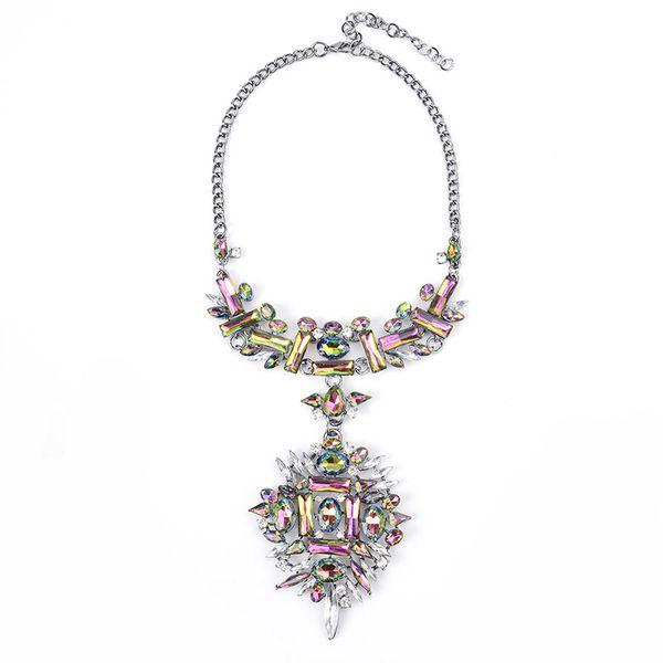 Plastic Fashion Geometric necklace  (color) NHWF3476-color