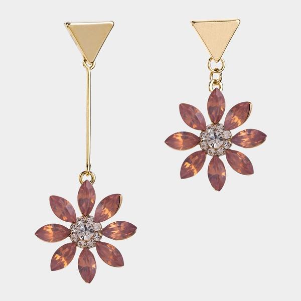 Alloy Fashion Flowers Bridal jewelry  (Pink) NHWF3478-Pink