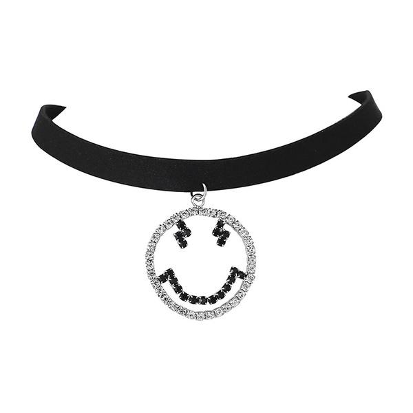 Alloy Fashion Geometric necklace  (White K) NHNMD4648-White-K