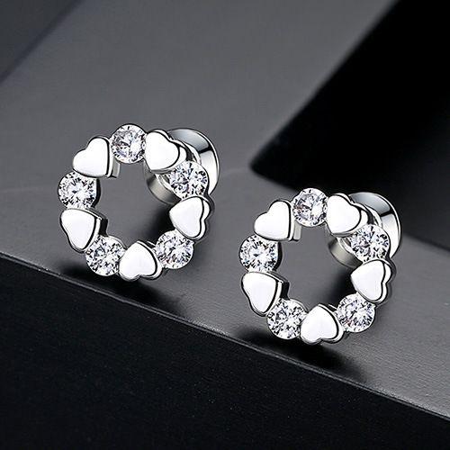 Alloy Simple Geometric earring  (platinum) NHTM0318-platinum