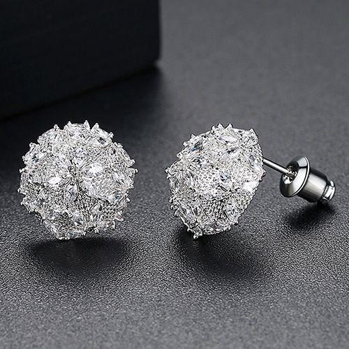 Alloy Fashion Geometric earring  (platinum) NHTM0320-platinum