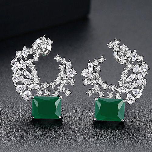 Alloy Korea Geometric earring  (platinum) NHTM0321-platinum