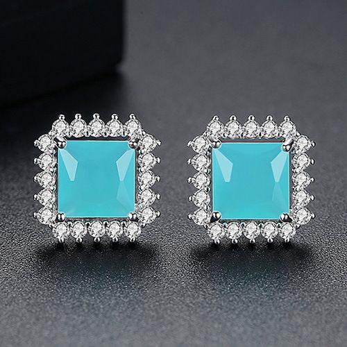 Alloy Simple Geometric earring  (platinum) NHTM0323-platinum