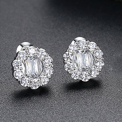 Alloy Simple Geometric earring  (platinum) NHTM0324-platinum