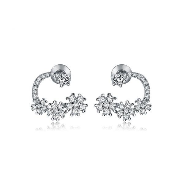 Alloy Korea Flowers earring  (platinum) NHTM0326-platinum