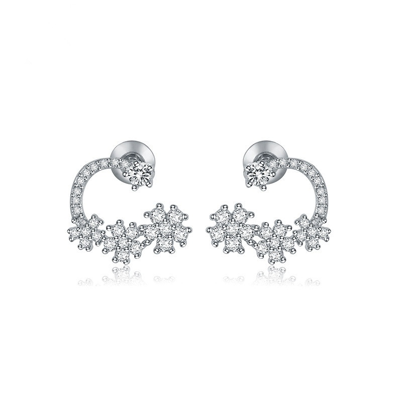 Alloy Korea Flowers earring  (platinum) NHTM0326-platinum