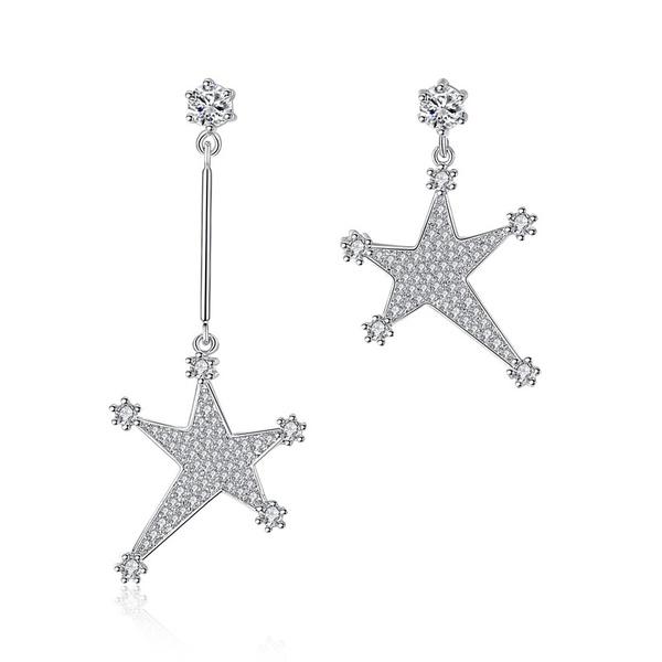 Alloy Korea Geometric earring  (platinum) NHTM0327-platinum