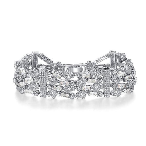 Alloy Fashion Geometric bracelet  (platinum) NHTM0328-platinum