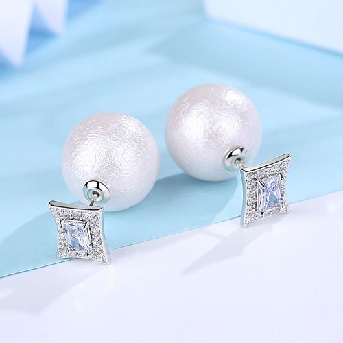 Alloy Simple Geometric earring  (White alloy) NHTM0333-White-alloy-plated