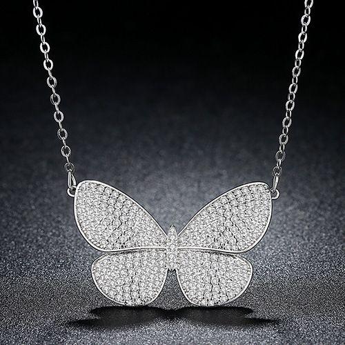 Alloy Korea Bows necklace  (platinum) NHTM0334-platinum