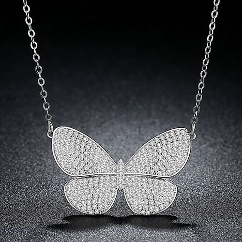 Alloy Korea Bows necklace  (platinum) NHTM0334-platinum