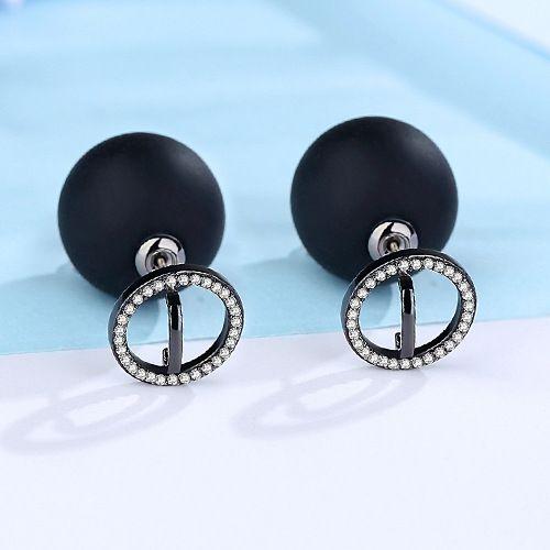 Alloy Korea Geometric earring  (black) NHTM0335-black