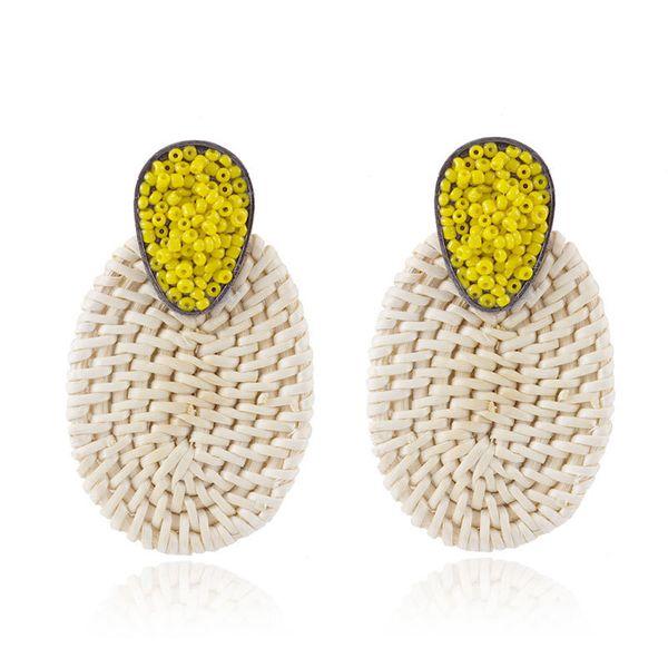 Alloy Korea Geometric earring  (yellow) NHNMD4658-yellow