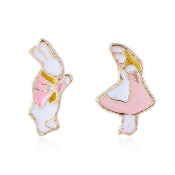 Alloy Korea Cartoon earring  (Pink) NHNMD4660-Pink