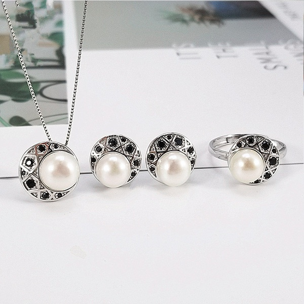 Alloy Korea  necklace  (Single pendant white beads) NHDY0998-Single-pendant-white-beads