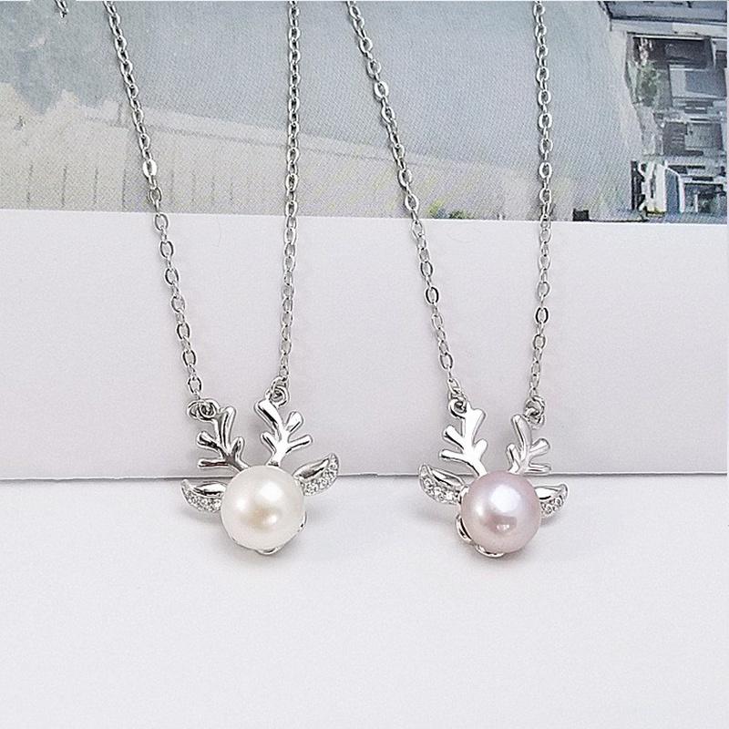 Alloy Korea Animal necklace  (White beads) NHDY1007-White-beads
