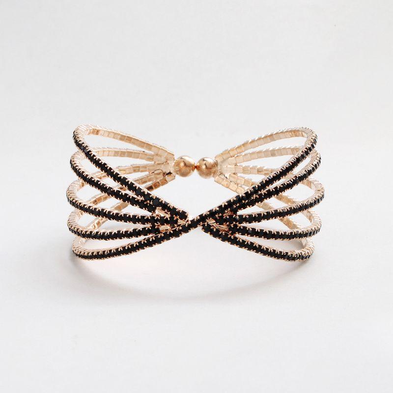 Alloy Fashion Geometric bracelet  black NHHS0505black