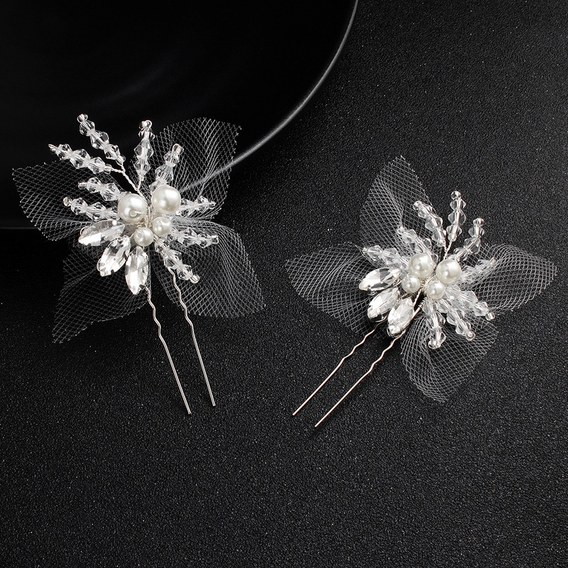 Beads Fashion Flowers Bridal jewelry  (Alloy) NHHS0507-Alloy