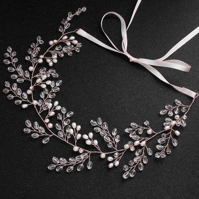 Imitated crystal&CZ Fashion Geometric Bridal jewelry  (Rose Alloy - Rose Alloy) NHHS0516-Rose-Alloy-Rose-Alloy