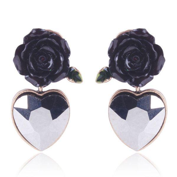 Alloy Fashion Sweetheart earring  (black) NHNMD4667-black
