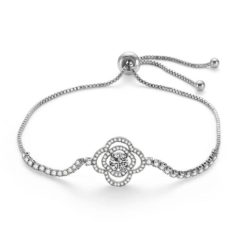 Alloy Simple Flowers bracelet  66186028 NHLP114566186028