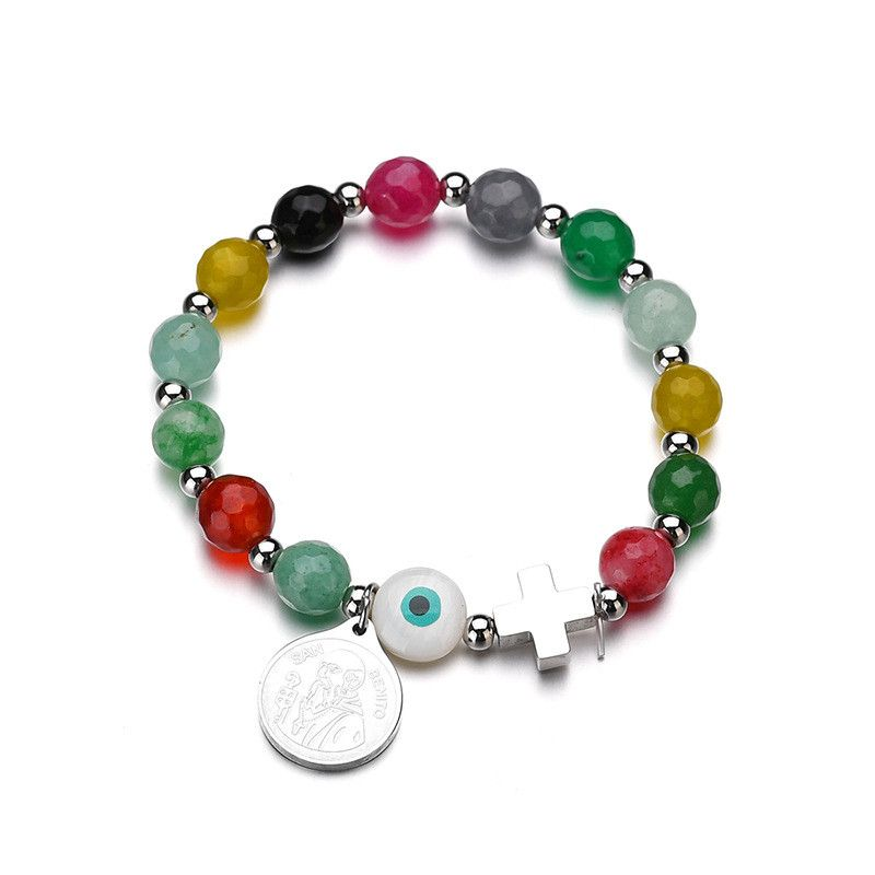 Titanium&Stainless Steel Punk Geometric bracelet  (color) NHHF0935-color