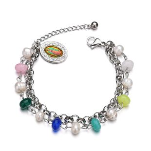 Titanium&Stainless Steel Punk Geometric bracelet  (color) NHHF0939-color's discount tags