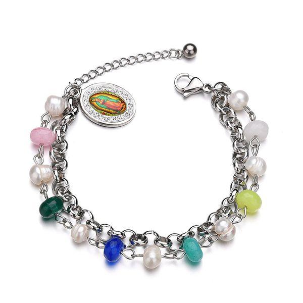 Titanium&Stainless Steel Punk Geometric bracelet  (color) NHHF0939-color