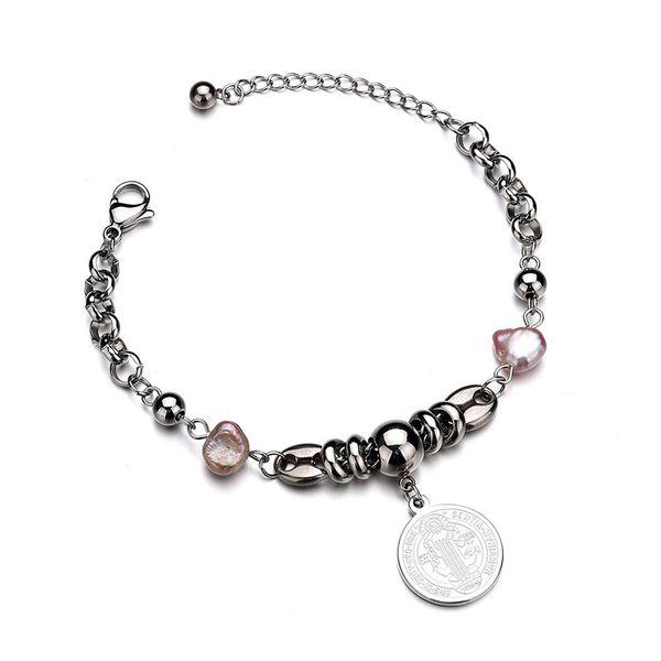 Titanium&Stainless Steel Punk Geometric bracelet  (Steel color) NHHF0947-Steel-color