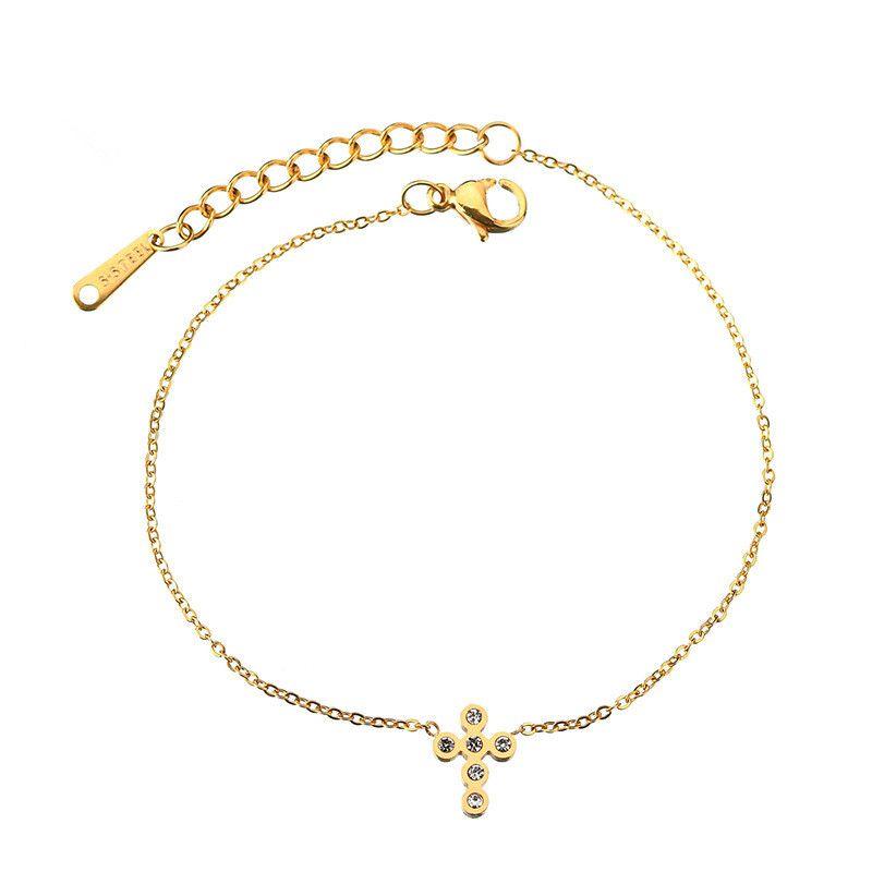 Titanium&Stainless Steel Punk Geometric bracelet  (Steel color) NHHF0952-Steel-color