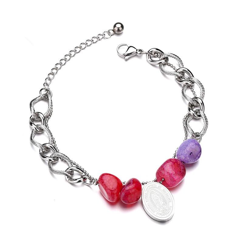 Titanium&Stainless Steel Punk Geometric bracelet  (color) NHHF0954-color