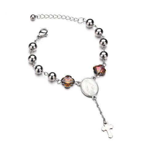 Titanium&Stainless Steel Punk Geometric bracelet  (Steel color) NHHF0956-Steel-color's discount tags