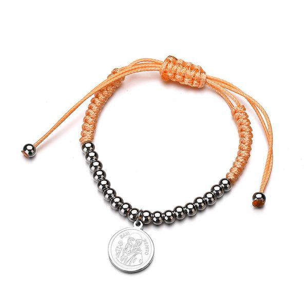 Titanium&Stainless Steel Punk Geometric bracelet  (Steel color) NHHF0957-Steel-color