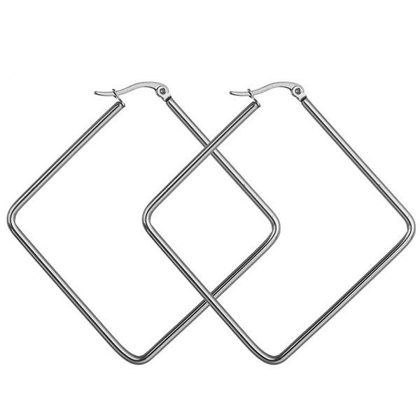 Titanium&Stainless Steel Fashion Geometric earring  (40mm) NHHF0958-40mm