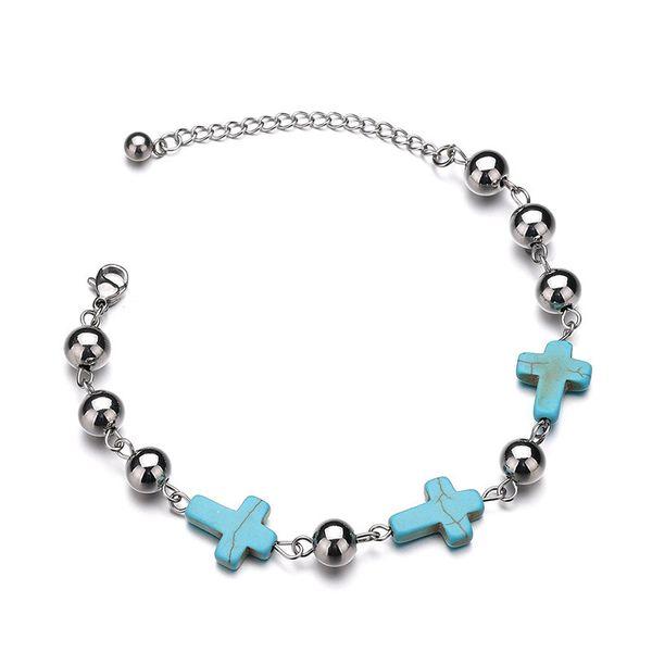 Titanium&Stainless Steel Punk Geometric bracelet  (Steel color) NHHF0959-Steel-color